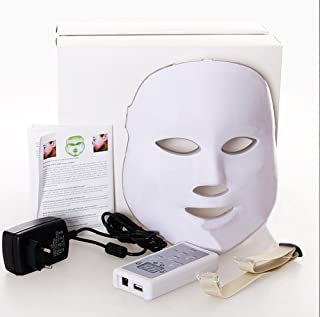 NORLANYA 3 Colors Photon LED Mask Skin Care Treatment for Pimples, Wrinkle, Blemishes - Handy Control Board - RED, BLUE, GREEN Light
