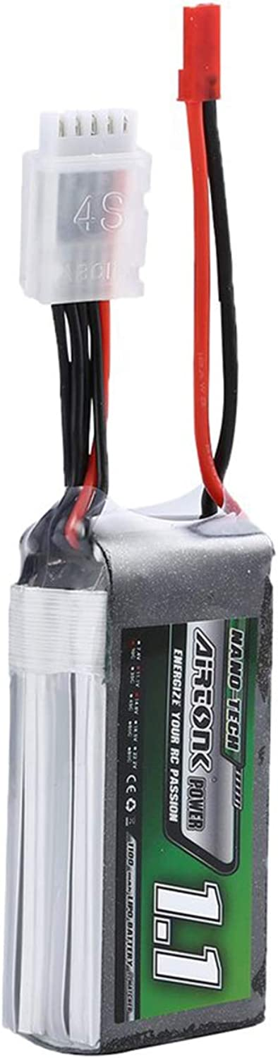 Airtonk Power 14.8V 1100mAh 30C 4s 1P Lipo Battery JST Plug Rechargeable for RC Racing Drone Quadcopter Helicopter Car Boat