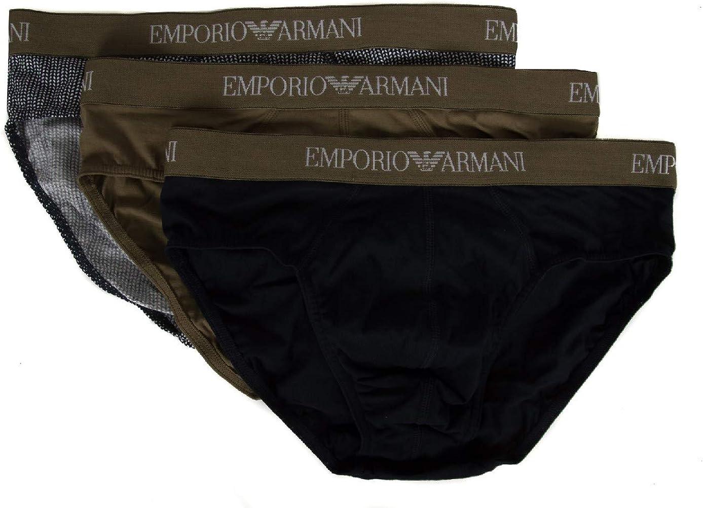 Pack 3 brief men's slip man tripack underwear EMPORIO ARMANI item 111624 9P722