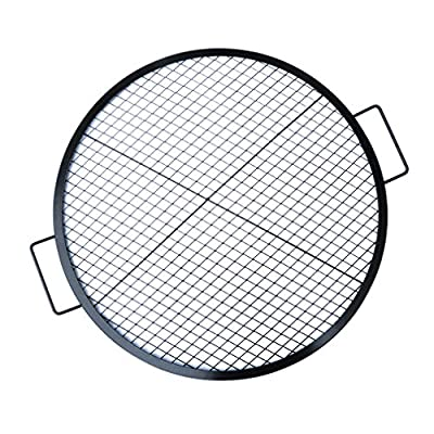 Stanbroil Heavy Duty X-Marks Round Fire Pit Cooking Grate Grill with Support X Wire