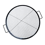 Stanbroil Heavy Duty X-Marks Fire Pit Cooking Grill with Support X Wire, Outdoor Round BBQ Campfire Grill, Camping Cookware, 30 Inch