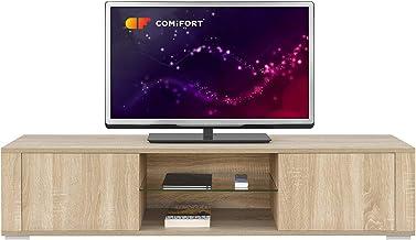 COMIFORT Mueble de TV - Mesa de Salón Moderno, Puerta con