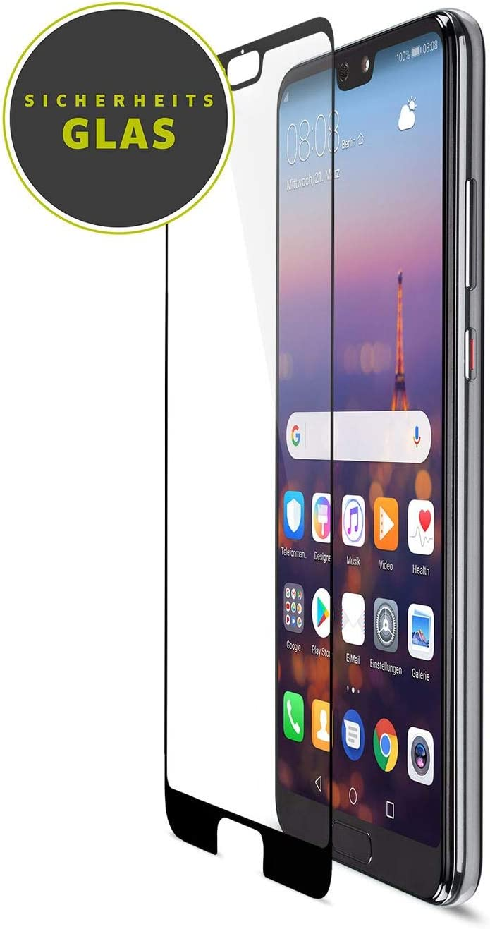 Full-Coverage Tempered Safety Glass Screen Protection with 9H Hardness Artwizz CurvedDisplay Full Screen Protector for Huawei P20 Pro Easy Installation Designed in Berlin Germany