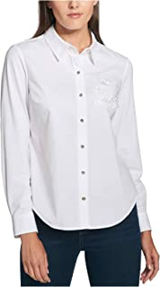 Tommy Hilfiger Women's Embroidered Button Down Shirt