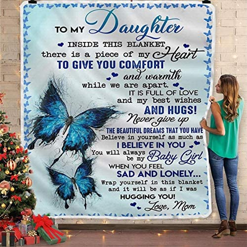 Maylian to My Challenge the lowest price of Japan Daughter from mom Butterfl Printed Blue Omaha Mall with Big a