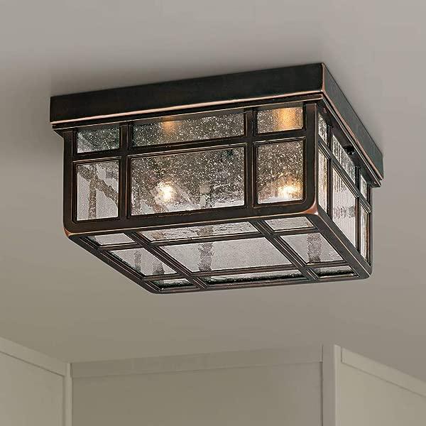 J Du J Sierra Craftsman 10 1 2 Wide Ceiling Light