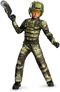 (10-12, As Shown) - Disguise Operation Rapid Strike Red Sector Foot Soldier Classic Muscle Boys Costume, 10-12