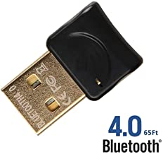 REDGO USB BT V4.0 Wireless Mini Adapter Dongle for PC Windows 10, 8, 7, Vista, XP, Classic Bluetooth, Stereo Headset Compatible, Black