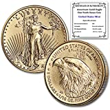 2021 1/10 oz Gold American Eagle Brilliant Uncirculated (Type 2) with Certificate of Authenticity by CoinFolio $5 BU