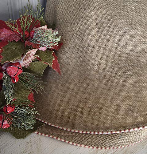 """Burlap Christmas Tree Skirt by The Burlap Cottage® Approx. 58"""""""