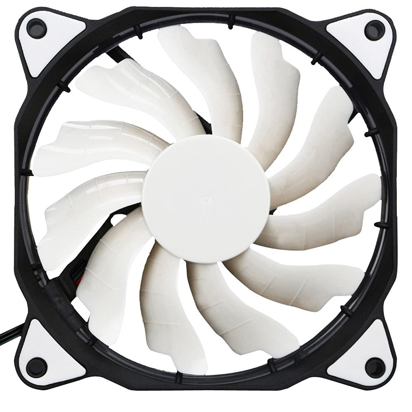 GOVOW-Tech 120mm 12V 3+4pin led Effects Clear Computer Case Fan for Radiator Mod Standard Low Noise Case Fan - Oil Bearing - Innovative Design