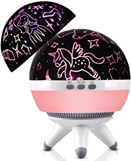 Toddler Girls Night Light,Unicorn Gifts Night Light for 2 3 4 5 6 7 8 Years Old Baby,Princess Projector Lamp for Girls Birthday, Christmas,Parties,Bedroom Decoration,Kids Toy for 1-10 Years Old