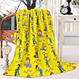 Good Guys Child's Play Chucky Fleece Blanket Soft Plush Throw TV Blanket Bedding Flannel Throw Shawls and Wraps Lightweight for Bed Couch Chair Travel, 59'x78.7'