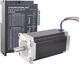 STEPPERONLINE 1 Axis Stepper CNC Kit 3Nm (425oz.in) Nema 23 Stepper Motor & Digital Stepper Driver Max 4A 24-60VDC