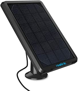 Reolink Panel Solar Impermeable Montaje Ajustable Fuente de alimentación Continua para Cámara de Vigilancia IP Inalámbrica Exterior(Cable de 4 Metros Incluido)