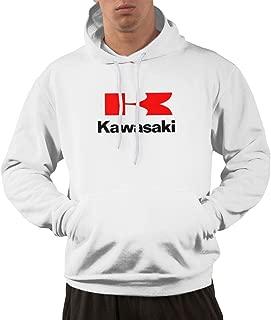 SHENGN Mans Fashion Kawasaki Motorcycles Logos Vector Sweatshirts Gray