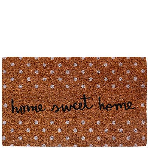 Laroom Felpudo diseño Sweet Home, Jute & Base Antideslizante, Marrón, 40 x 70 cm