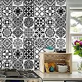 Adhesivo de azulejos, diseño de mosaico, 64 piezas autoadhesivo de mosaico, azulejos de pared, impermeable, papel para cuarto de baño y cocina (16 unidades de 20 x 20 cm)