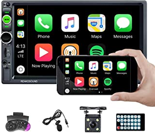 $89 » Double Din Car Stereo D-Play 7'' Touch Screen Bluetooth Car Radio 2 Din Car Multimedia Player FM Radio Receiver Indash Hea...