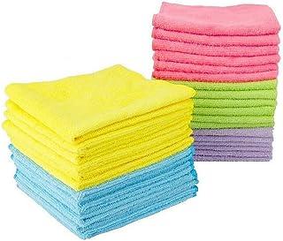 Leviatan Lot de 30 chiffons de nettoyage en microfibre | pour La Maison,Hôtel,Bureau | 30x30cm | Multicolore