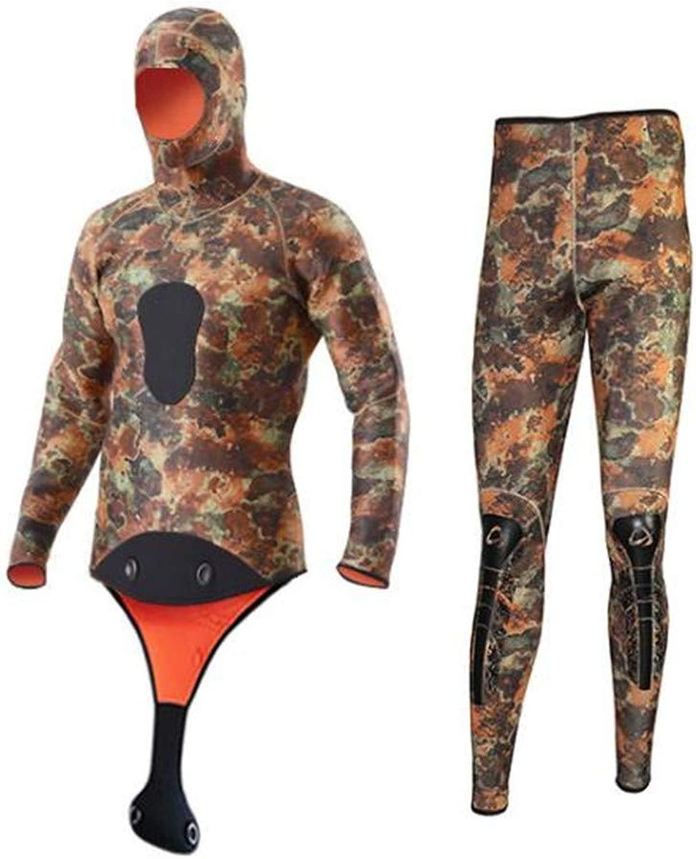 男性ウェットスーツ5 mm個別上半身下半身狩猟魚スーツ撮影魚ウェット服