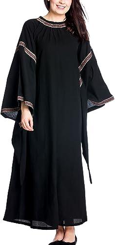 Accessoires de costume - Robe médiévale pour Les dames hommeches pagodes - Coton - Noir - XXL