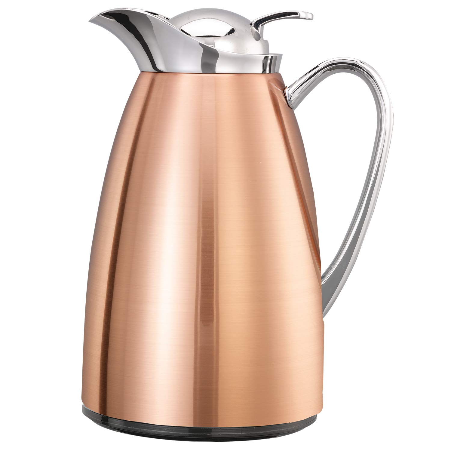 Service Ideas CJZS6CP Classy Carafe Popular standard Lined Copper fin Popular Stainless