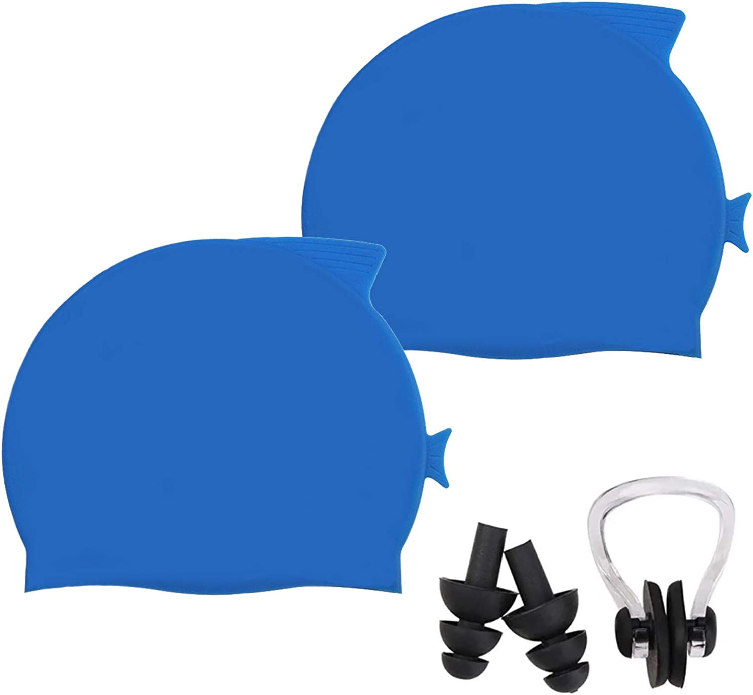 FDQNDXF 2 Pcs Milwaukee Mall Swim Caps for Silicone Anti-Slip Complete Free Shipping Child Hair Long S