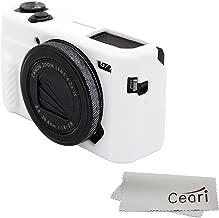 CEARI Silicone Case Rubber Camera Protective Cover Skin for Canon PowerShot G7X Mark II Digital Camera + Microfiber Cloth - White