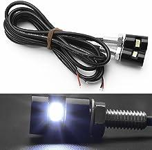 Studyset Motorcycle Car License Plate Decoration Reversing Light Lamp DC 12V White LED Light Safe Bulb 2Pcs