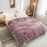 QETUOA Manta De Franela, Espesa Super Suave De Lana De Leche Individual Doble Dormitorio Sofá Cubierta Manta Oficina Aire Acondicionado Manta (Rojo espino,180 * 200cm-0.93kg)