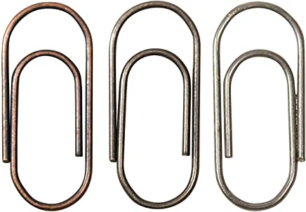 Metal Mini Paper Clips, 48 per Pack, 5/8 Inch, Antique Finishes