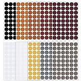 540 Pezzi Adesivi Copriforo Vite, 10 Fogli Adesivi Tappi Coprivite Autoadesivi Tappi Coprivite Adesivi per Mobili in Legno Piastra Scaffale Armadio, 10 Colori, Diametro 21mm