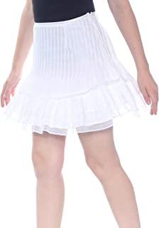 WALTER BAKER Womens White Pleated Above The Knee Skirt US Size: 8