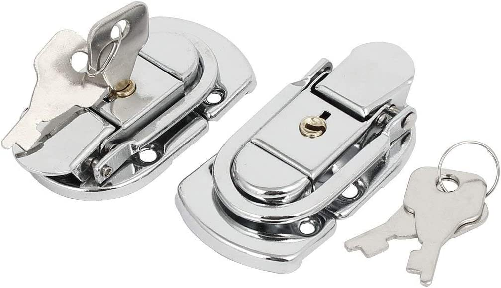 Suitcase Briefcase 65mm Length Metal Toggle Hasp Atlanta Mall Latch Lock Outstanding 2pcs