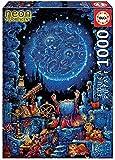 Educa Borras - Serie Neon Fluorescent, Puzzle 1.000 piezas El Astrólogo, Brilla en la oscuridad (18003)