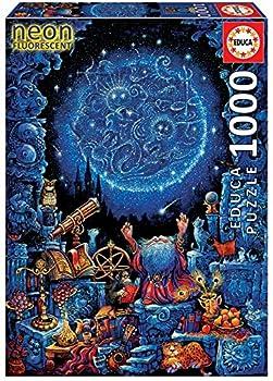 Educa Borras - Neon Fluorescent Series Puzzle 1,000 Pieces The Astrologist Glow in The Dark  18003