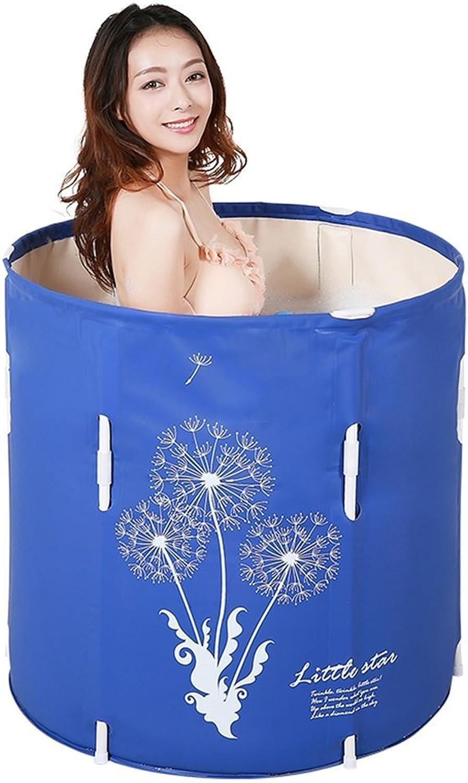 AINIYF Anhebende Faltende Badewanne Tragbare Plastikbadewanne, Die Aufblasbare Erwachsen-Verdickung Faltet (Gre  70x70cm)