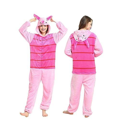 Winnie the pooh characters Unisex Onesie Fancy Dress Costume Hoodies Pajama  (Piglet 835d48c8f3