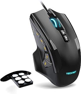 TECKNET Ratón Gaming con Cable Ratón Láser de Alta