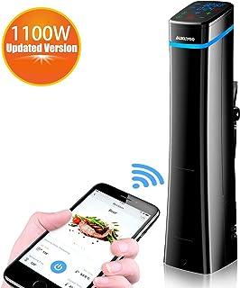 AUKUYEE 低温調理器 Sous Vide 真空調理器 お料理用 水温制御クッカー スロークッカー 日本語マニュアル 1100w HQ03
