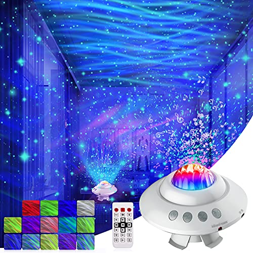 Star Projector Light, Northern Projector, AgoKud Dimmable Aurora Starry Projector with Remote Control, BT Music Speaker & Timing Function, Ceiling Starlight Projector for Bedroom/Baby /Kid /Teen/Adult