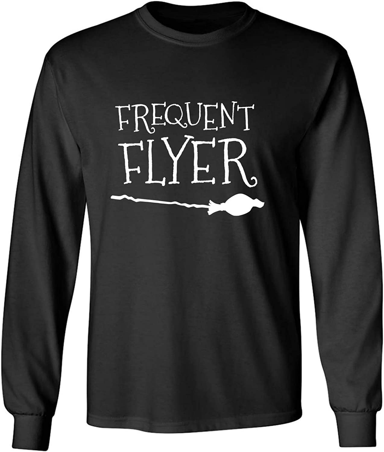 Frequent Flyer Adult Long Sleeve T-Shirt in Black - XXXX-Large