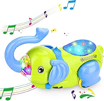 XREXS Musical 360Tipping Bucket Elephant Car Toy