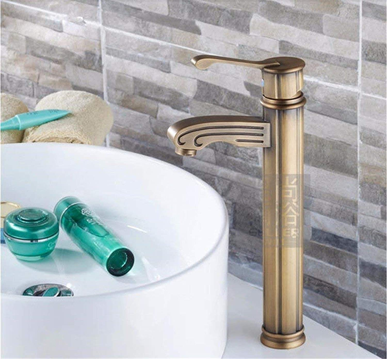 Faucet Copper Faucet, Basin Above Counter Basin Bathroom Faucet, Hot and Cold Retro Outdoor Taps (color   -, Size   -)