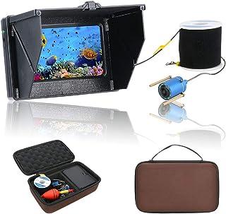 GRXXX Finder de Pescado 1000 / 1200TVL, cámara de Pesca submarina, Detector de 4.3 Pulgadas 10pcs LED Visión Nocturna de 1...