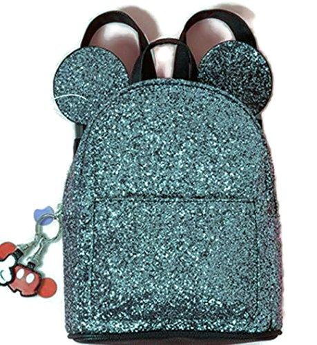 Primark - Bolsa escolar Negro Black - Glitter 29 x 21 x 9 cm