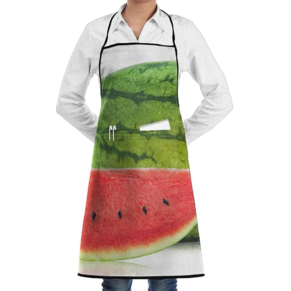 RZ GMSC Novelty Watermelo Kitchen Chef Apron With Big Pockets - Chef Apron For Cooking,Baking,Crafting,Gardening And BBQ