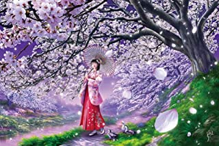 [108 pieces] Sakura Cherry Blossom Wind Jigsaw Puzzle (18.2 x 25.7 cm) Japan by Appleone