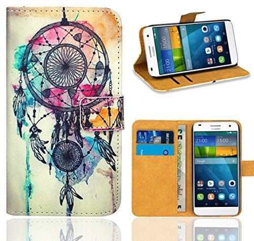 FoneExpert® Huawei Ascend G7 Handy Tasche, Wallet Hülle Flip Cover Hüllen Etui Ledertasche Lederhülle Premium Schutzhülle für Huawei Ascend G7 (Pattern 9)